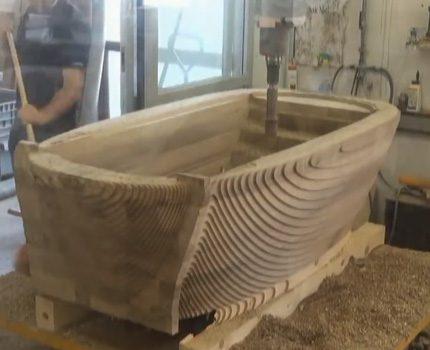 Как сделать деревянную ванную своими руками - видеоинструкция