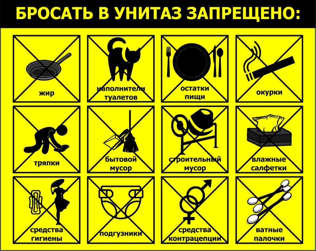 12 предметов, которые нельзя бросать в унитаз ни в коем случае