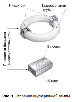 Особенности использования индукционных ламп: устройство