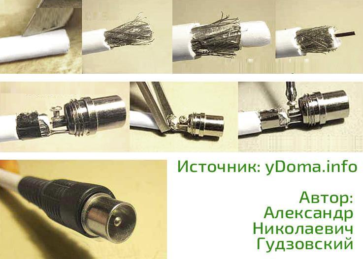Как подключить телевизионный кабель: к штекеру, антенне, щитку