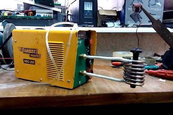 Индукционный нагреватель из сварочного инвертора своими руками