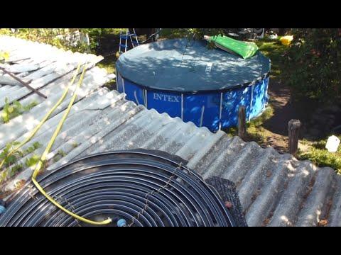 Подогрев воды в бассейне на улице на даче своими руками