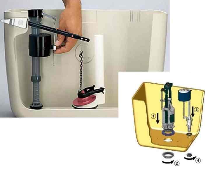 Замена сливного механизма в бачке унитаза - только ремонт своими руками в квартире: фото, видео, инструкции