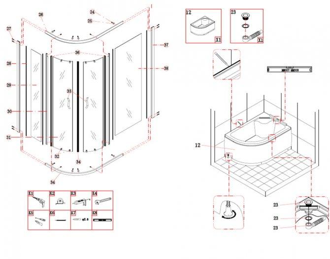 Простая и подробная инструкция по подключению душевой кабины