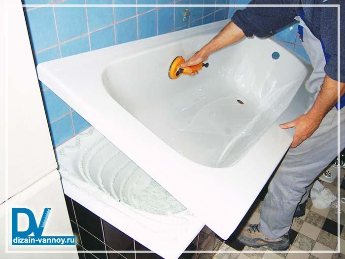 Акриловые вкладыши в ванну - все о канализации